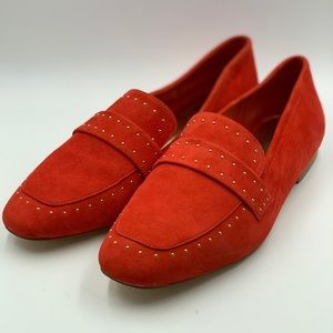 c694ce237 Bleecker And Bond Shoes - BLEECKER AND BOND Soft Red suede loafer